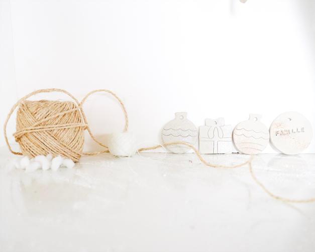 DIY boule de Noël en argile