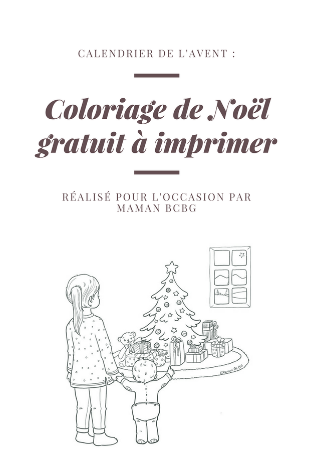 coloriage de Noël à imprimer
