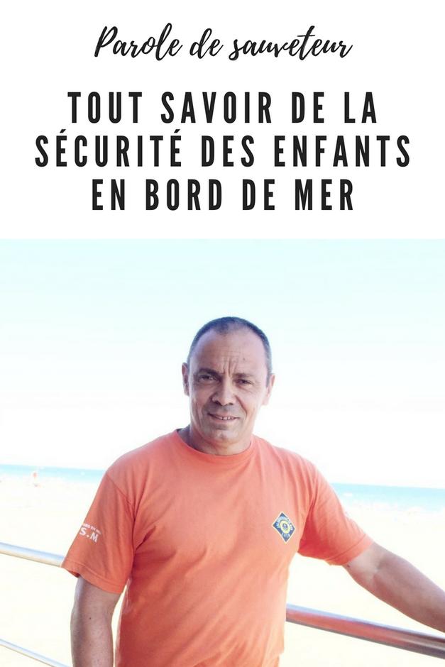 securite enfant mer