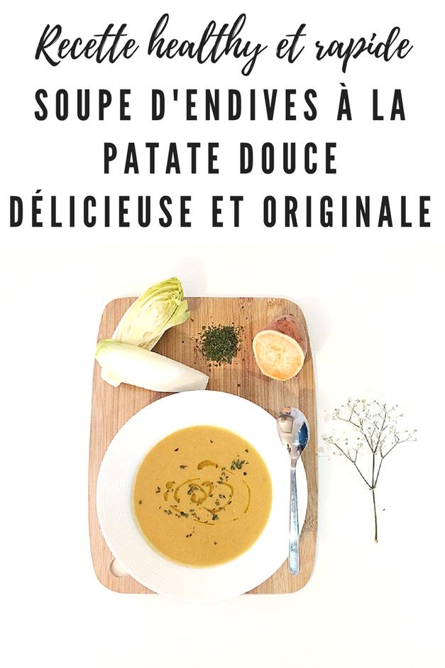 soupe d'endives patates douces