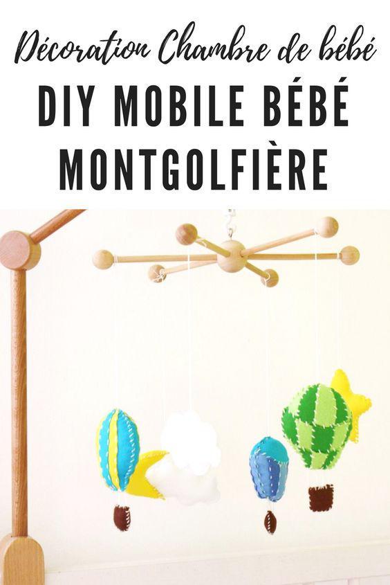 DIY mobile bébé montgolfière