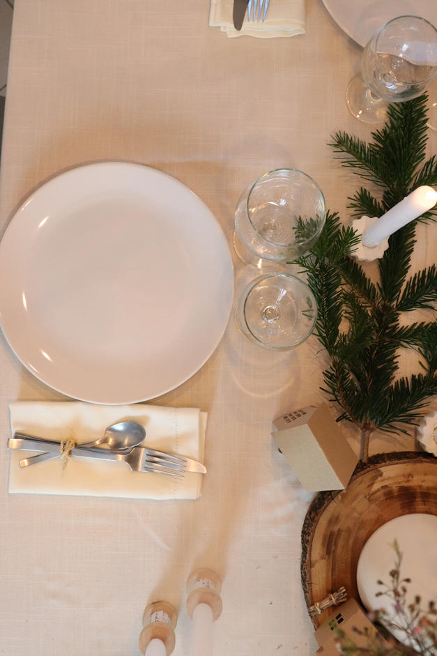 décoration de table de Noël minimaliste