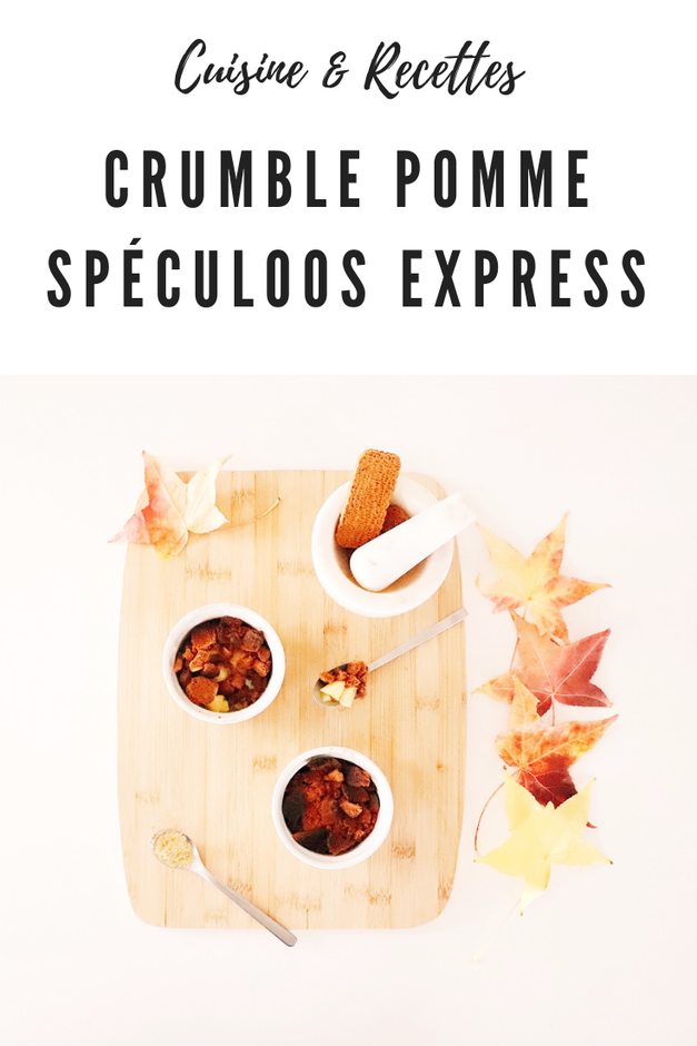 crumble pomme spéculoos