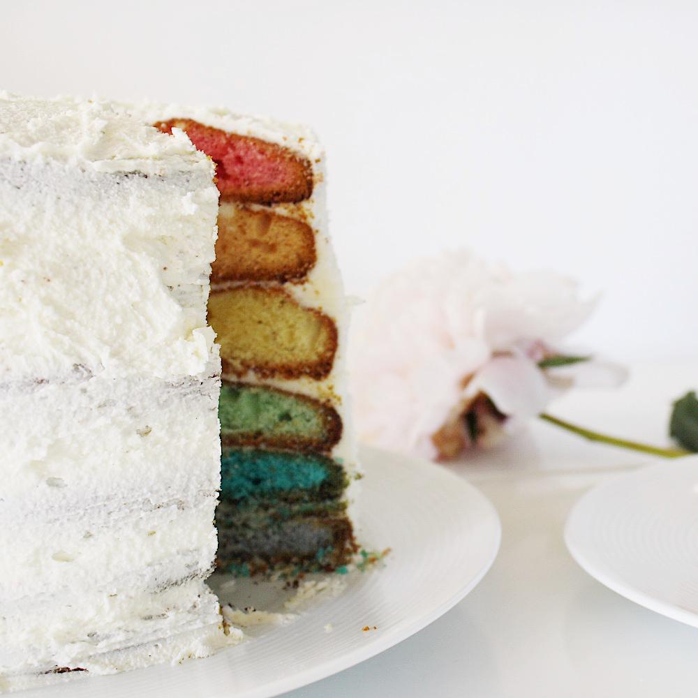 rainbow cake facile et rapide pour les nuls