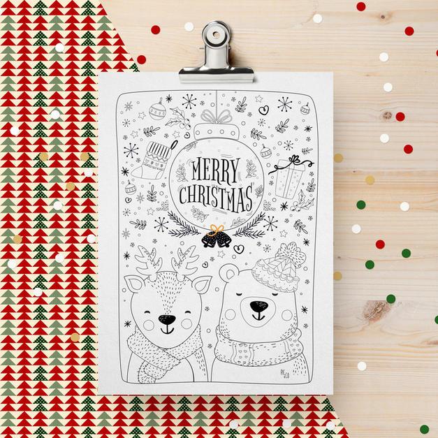 Dessin de Noël à imprimer